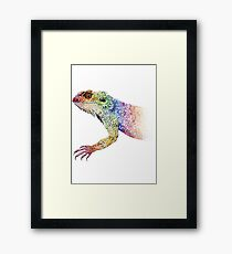 bearded dragon rainbow Mix Framed Print
