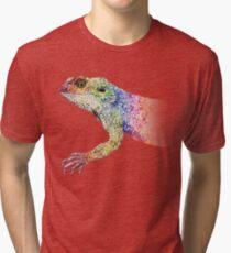 bearded dragon rainbow Mix Tri-blend T-Shirt