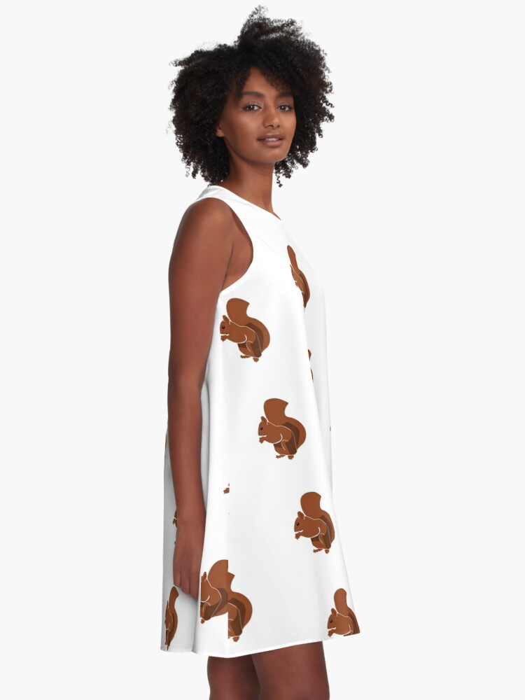 Alternate view of Cute iconic Squirrel A-Line Dress