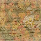 Love Letter with Yellow and Red Subtle Flowers by Phototrinity