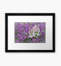 Love Letter with Pink and Purple Subtle Flowers Framed Art Print