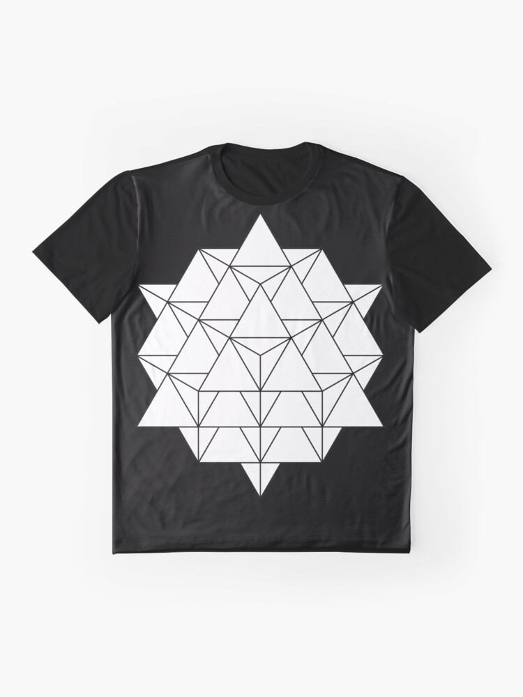 Alternate view of 64 Tetrahedron Graphic T-Shirt