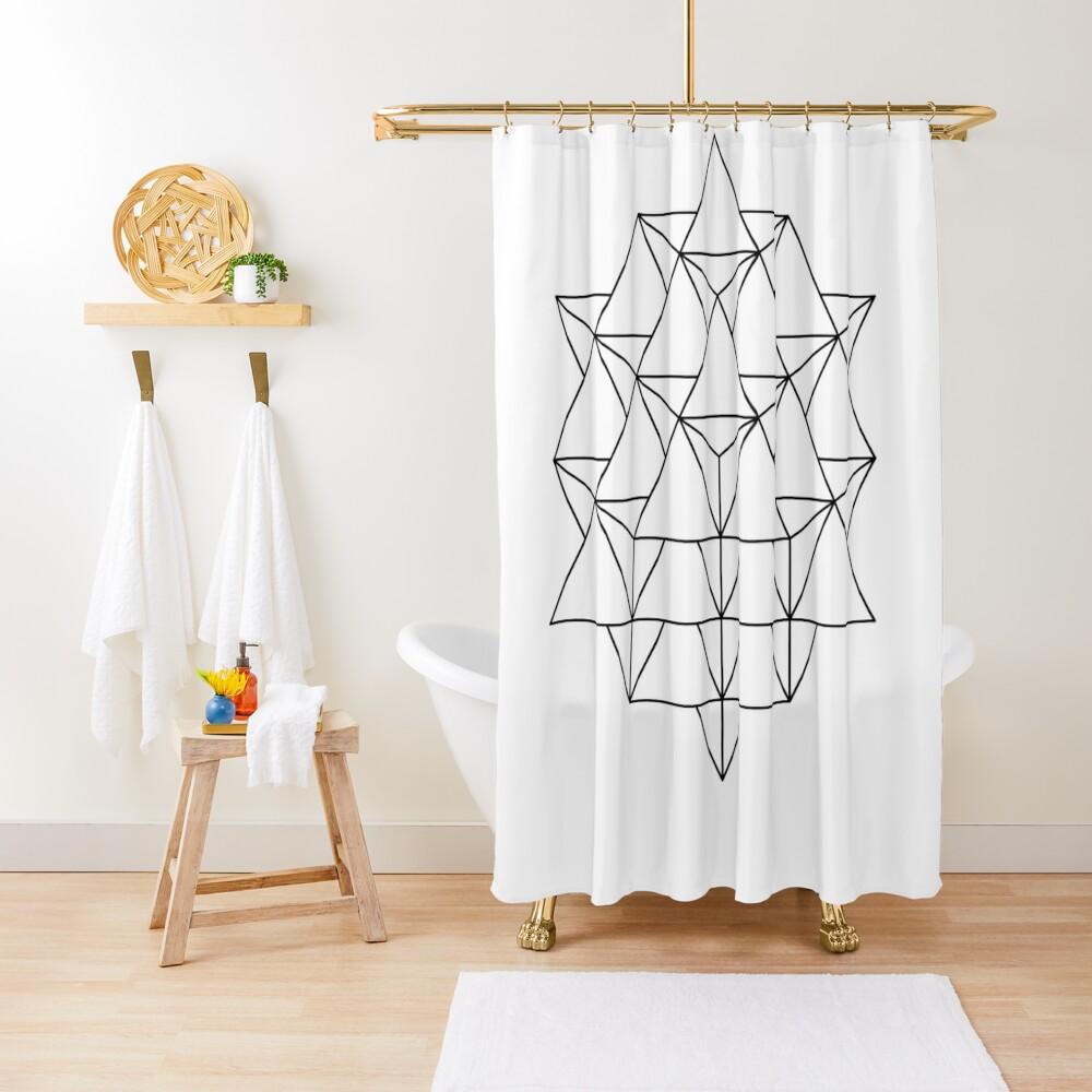 64 Tetrahedron Shower Curtain