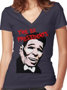 The Ex Presidents  Women's Fitted V-Neck T-Shirt