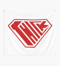 Thick SuperEmpowered (Red) Wall Tapestry
