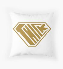 Thick SuperEmpowered (Gold) Throw Pillow