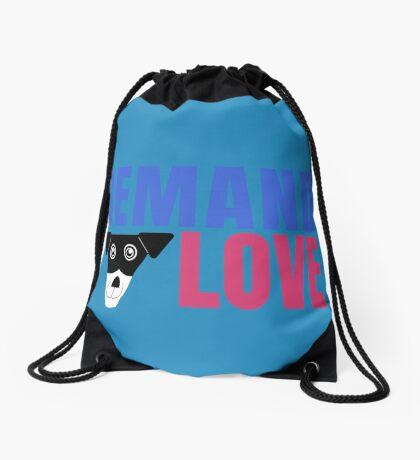 Carl Demands Love   Demand Love! Drawstring Bag