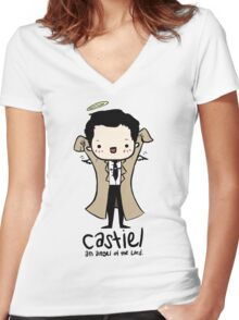 Castiel - Angel of the Lord Women's Fitted V-Neck T-Shirt