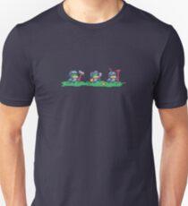 Medieval Duck Knights Pixel Art Slim Fit T-Shirt