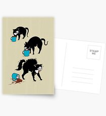 Kaffee Katze Postkarten
