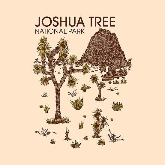 Joshua-Baum-Nationalpark von Hinterlund