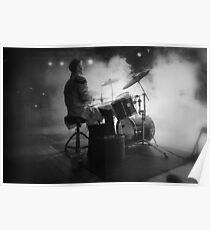 Smokin' drummer! Poster