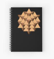 64 Tetrahedron 001 Spiral Notebook