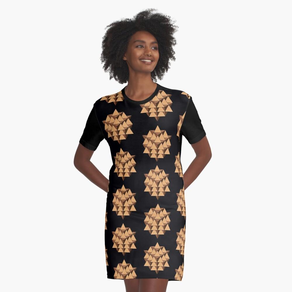 64 Tetrahedron 001 Graphic T-Shirt Dress