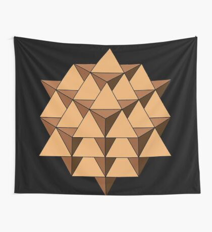 64 Tetrahedron 001 Wall Tapestry