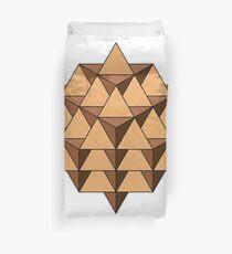 64 Tetrahedron 001 Duvet Cover
