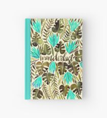 Tropical Wanderlust – Turquoise & Olive Hardcover Journal