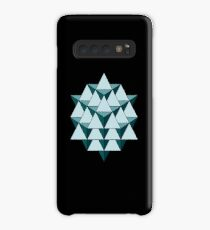 64 Tetrahedron - Cool Blues Case/Skin for Samsung Galaxy