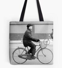 In bicycle in Beijing. Tote Bag