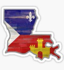 Pegatina Louisiana con la bandera de Acadiana