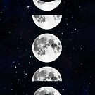 «Fases de la galaxia lunar» de julieerindesign
