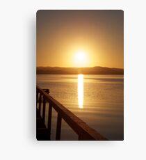 Sunset over Tuggerah Lakes - Long Jetty Canvas Print