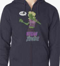 Lady Vegan Zombie Zipped Hoodie