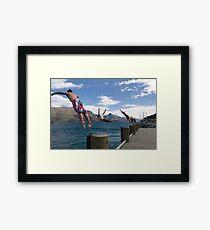 Diving in Queenstown Framed Print