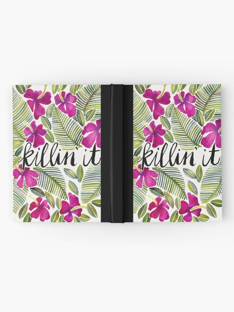 Alternative Ansicht von Killin 'es - tropisches Rosa Notizbuch