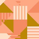 Geometric Abstract in Pink by latheandquill
