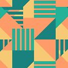 Geometric Abstract - Tropical by latheandquill