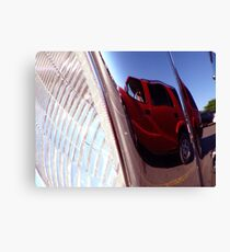 Reflection in the Headlight Canvas Print
