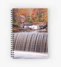 Glade Creek Grist Mill in Autumn and Waterfalls,Vertical Spiral Notebook