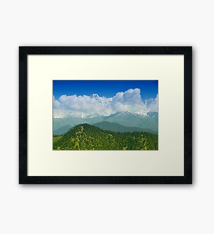 Himalaya Range As Seen from Chopta Framed Print