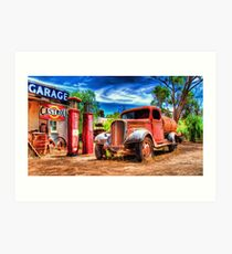 Yesteryear's Garage Art Print