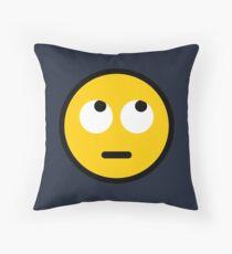 Eye Roll Emoji Throw Pillow