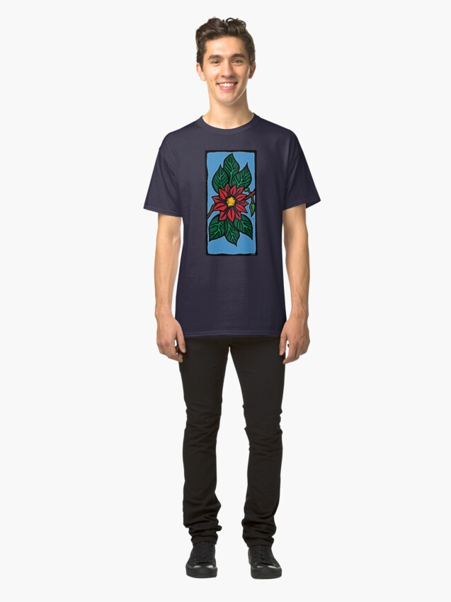 Alternate view of Red Flower Classic T-Shirt
