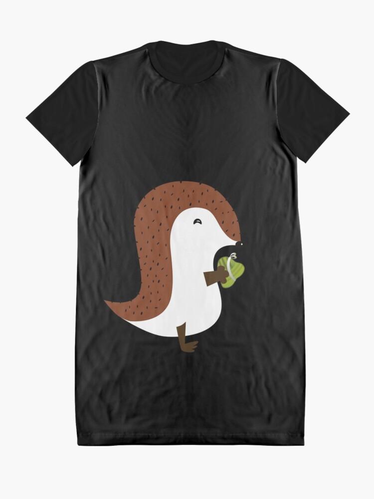 Vista alternativa de Vestido camiseta Erizo Con Tamal De Arroz