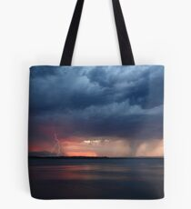Storm Fest over Pumicestone Passage Tote Bag