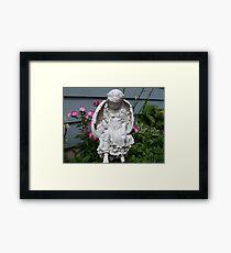 Angel, protecting my garden flowers Framed Print