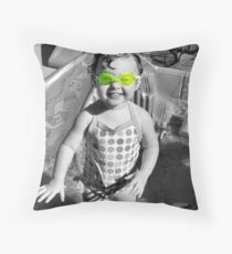 Swim Goggles Throw Pillow