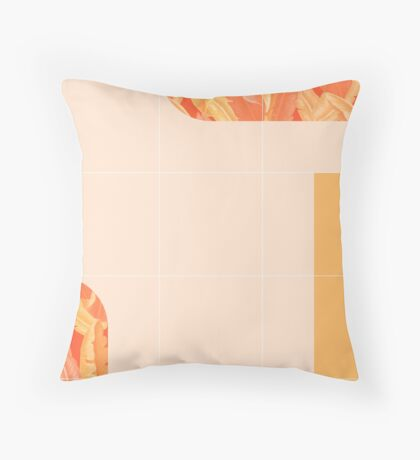 Mid-Century Tropical Orange Mood #redbubble #tropical Floor Pillow