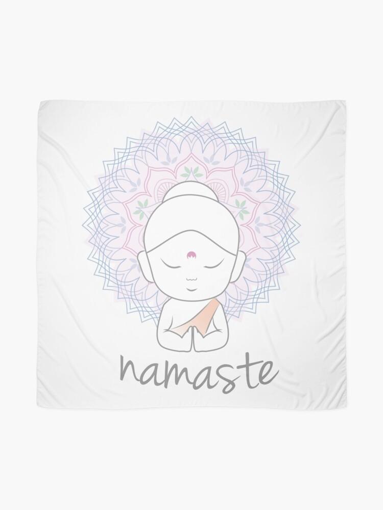 """Alternative Ansicht von Niedlicher Buddha sendet Grüße Das Wort """"Namaste"""" ist ein respektvoller Gruß, der auch """"Namaskar"""" genannt wird. Tuch"""