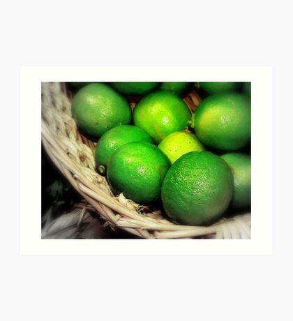Citron vert de peur Art Print