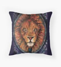 A Lion is the True Nature of a Cat Throw Pillow