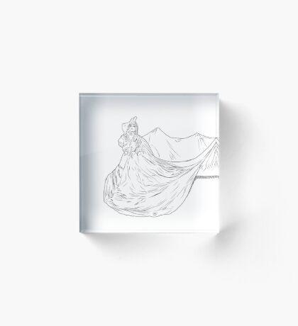 Lady Ink drawing Met 2019 Pink Dress Acrylic Block