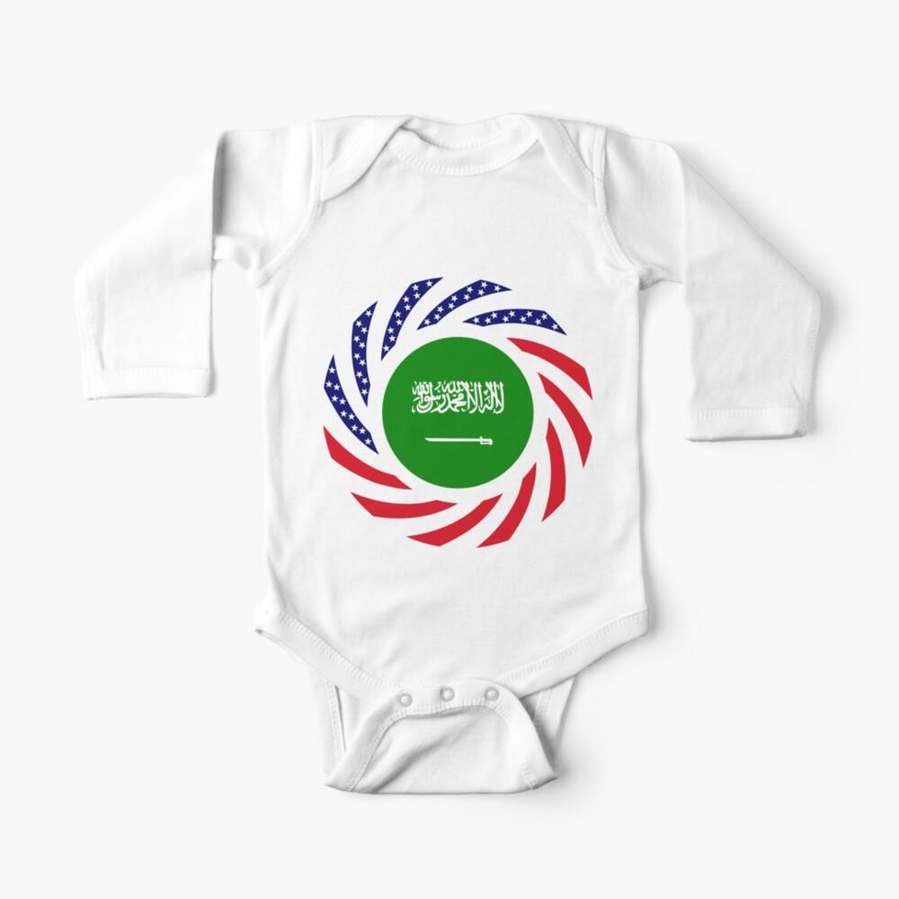 Saudi American Multinational Patriot Flag Series Baby One-Piece