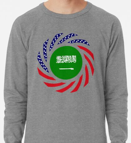 Saudi American Multinational Patriot Flag Series Lightweight Sweatshirt
