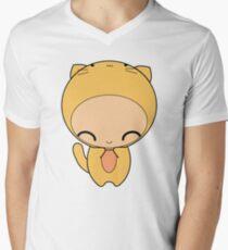 kitty kat Mens V-Neck T-Shirt