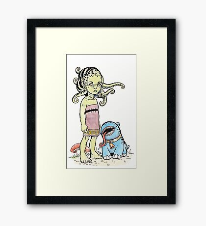 A Mutt and His Mistress Framed Print